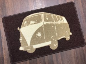 NON SLIP DOORMATS 50X80CM GEL BACKING TOP QUALITY CAMPER DESIGN NEW COLOUR BROWN